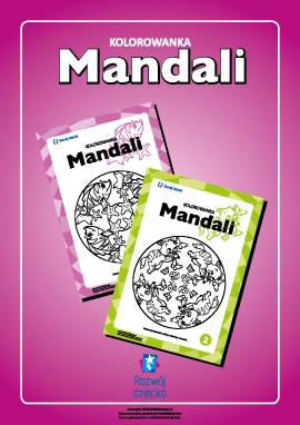 "Kolorowanka harmonizująca ""Mandali"""