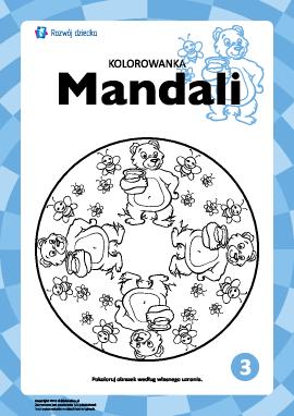 "Kolorowanka harmonizująca ""Mandale"" nr 3"