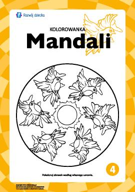 "Kolorowanka harmonizująca ""Mandale"" nr 4"