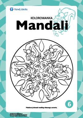 "Kolorowanka harmonizująca ""Mandale"" nr 6"