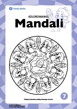"Kolorowanka harmonizująca ""Mandale"" nr 7"