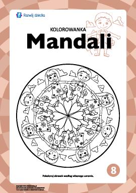 "Kolorowanka harmonizująca ""Mandale"" nr 8"