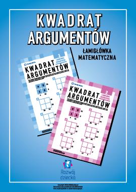"""Łamigłówka matematyczna """"Kwadrat argumentów"""""""