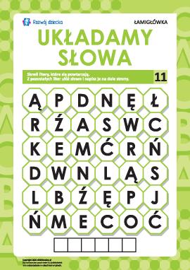 """Łamigłówka """"Układamy słowa"""" nr 11: """"jabłko"""""""