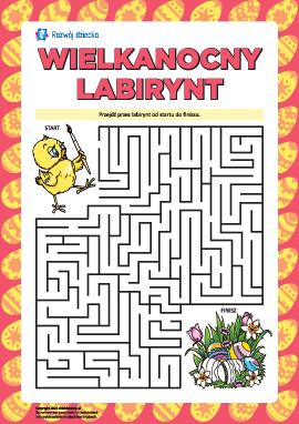 Wielkanocny labirynt: ćwiczymy uwagę