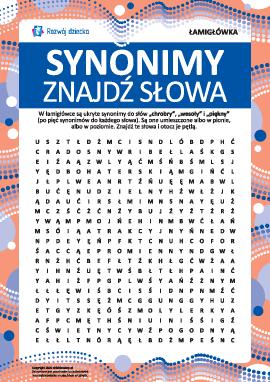 """Łamigłówka """"Znajdź słowa"""": synonimy"""