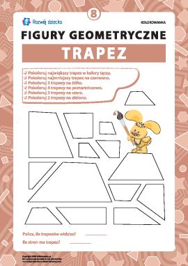 """Kolorowanka """"Figury geometryczne"""": trapez"""