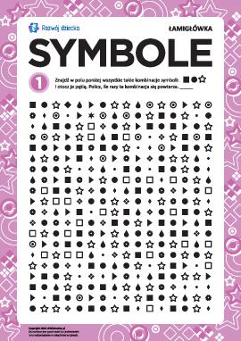 Rozwijamy uwagę i pamięć: symbole nr 1