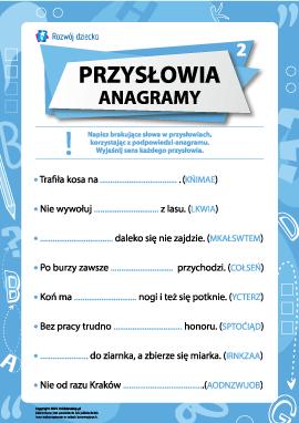 Przysłowia i anagramy nr 2 (język polski)
