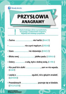 Przysłowia i anagramy nr 3 (język polski)