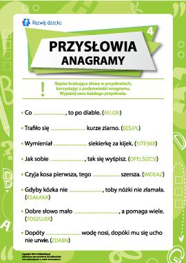 Przysłowia i anagramy nr 4 (język polski)