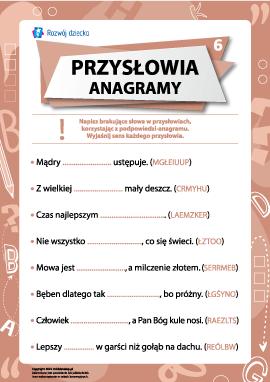 Przysłowia i anagramy nr 6 (język polski)