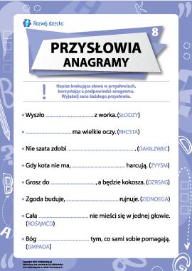 Przysłowia i anagramy nr 8 (język polski)