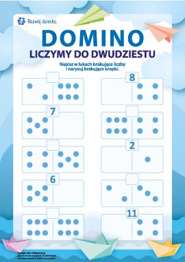 Domino: uczymy się liczenia do dwunastu