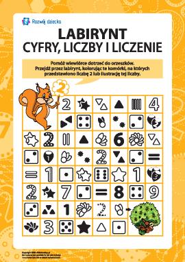 Labirynt: liczymy i uczymy się cyfr oraz liczb 2