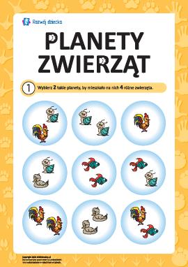 """Łamigłówka """"Planeta zwierząt"""" nr 1"""