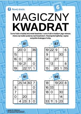 """Łamigłówka """"Magiczny kwadrat"""" nr 6"""