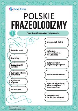 Uczymy się polskich frazeologizmów nr 1