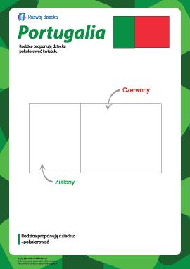 "Kolorowanka ""Flaga Portugalii"""