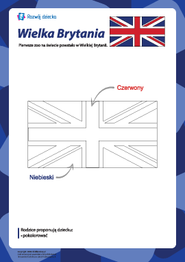 """Kolorowanka """"Flaga Wielkiej Brytanii"""""""