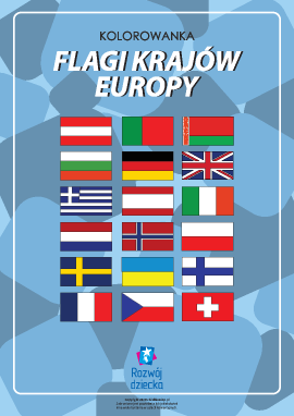 """Kolorowanka """"Flagi krajów Europy"""""""