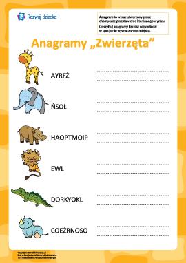 """Anagram """"Zwierzęta"""""""