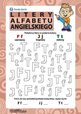Litery alfabetu angielskiego – F, J, T
