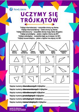 Poznajemy różne rodzaje trójkątów