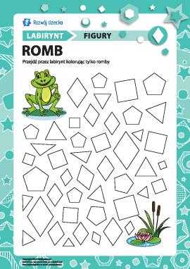 """Labirynt """"Figury geometryczne"""": romb"""
