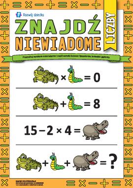Znajdź nieznane liczby: wesoła matematyka