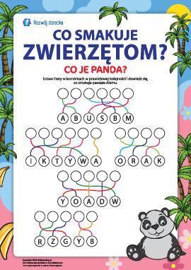 Poznajemy świat zwierząt. Co je panda? (nr 1)