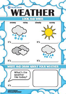 Uczymy się określania pogody w języku angielskim