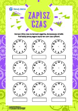 Uczymy się określania czasu na tarczy zegara