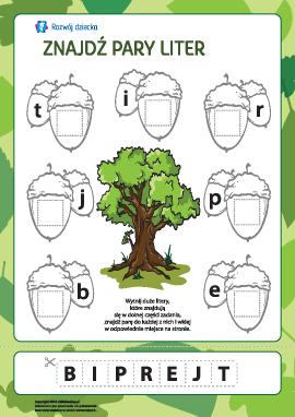 Znajdź pary liter №1 (alfabet polski)