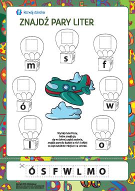 Znajdź pary liter №3 (alfabet polski)