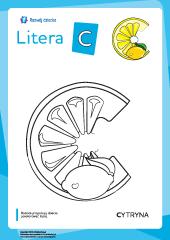 Kolorowanka Litery Alfabetu Polskiego Litera C Rozwój Dziecka