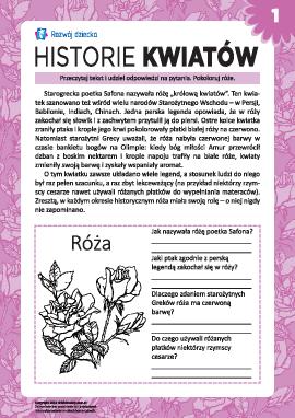 Historie kwiatów: róża