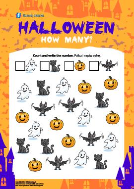 """Policz obrazki: """"Halloween"""""""