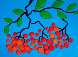 Jarzębina – aplikacja dziecięca z plasteliny