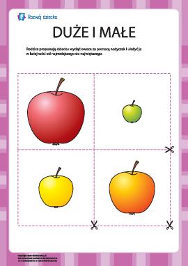 Rozłóż jabłka zgodnie z rozmiarem