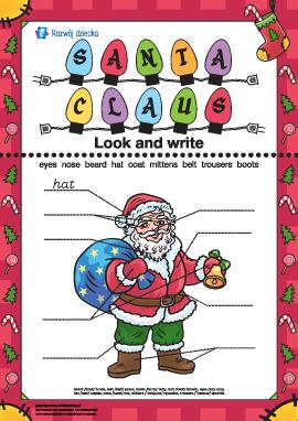 Opisz Świętego Mikołaja (w języku angielskim)