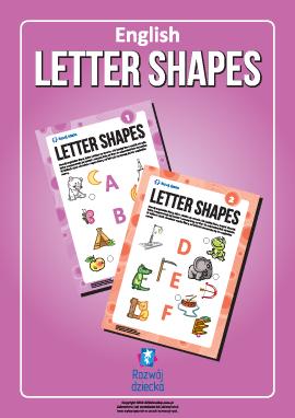 Uczymy się liter pod względem kształtów (alfabet angielski)