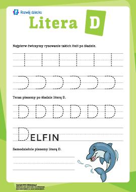 Pisanie litery D