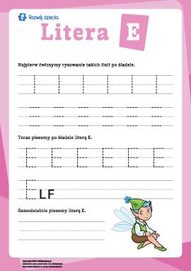 Pisanie litery E