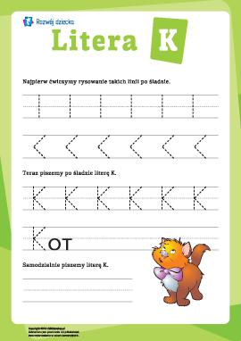 Pisanie litery K