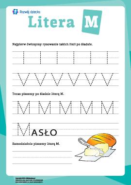 Pisanie litery M
