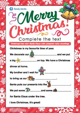 Rozwijamy umiejętności czytania w języku angielskim: obchodzenie Bożego Narodzenia