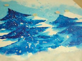 Choinki akwarelowe — zimowa aplikacja dla dzieci