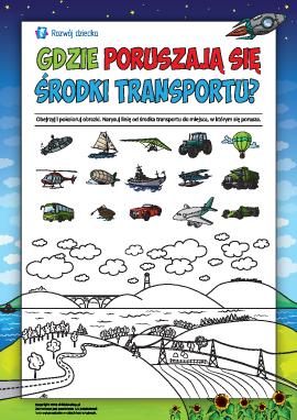 Określamy, gdzie poruszają się środki transportu