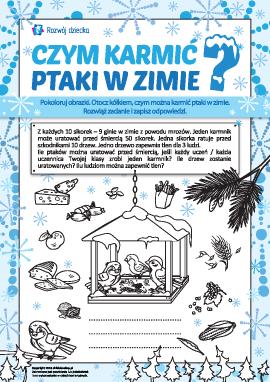 Pomoc ptakom w zimie: rozwiązujemy zadanie i rozwijamy odpowiedzialność